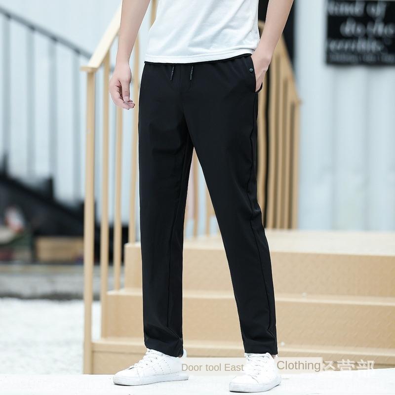 vwRB1 Летние спортивные брюки спортивные нан Сю Сянь Stretch Тонкий легкий быстрый сухой штаны дышащая затекания корейский Стильный универсальный ankle-