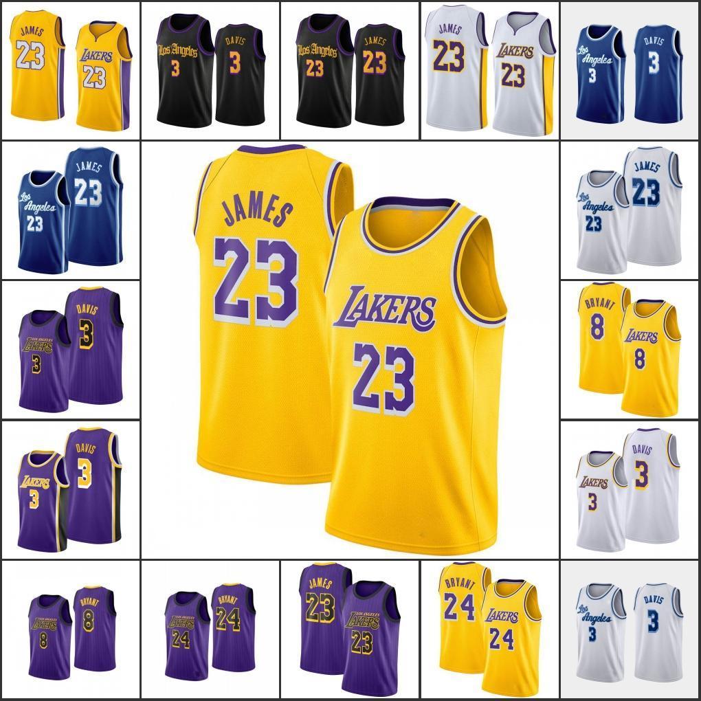 Los AngelesLakersKobeBryantErkekler LeBron James AnthonyDavisNBA Yeni 2020 Basketbol Forması