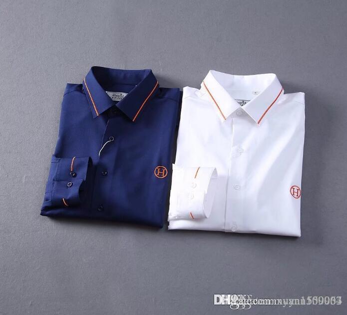 Herbstmann merzerisierte Baumwolle mit langen Ärmeln Revers Shirt Normallack Geschäft beiläufiges dünnes Baumwollhemd