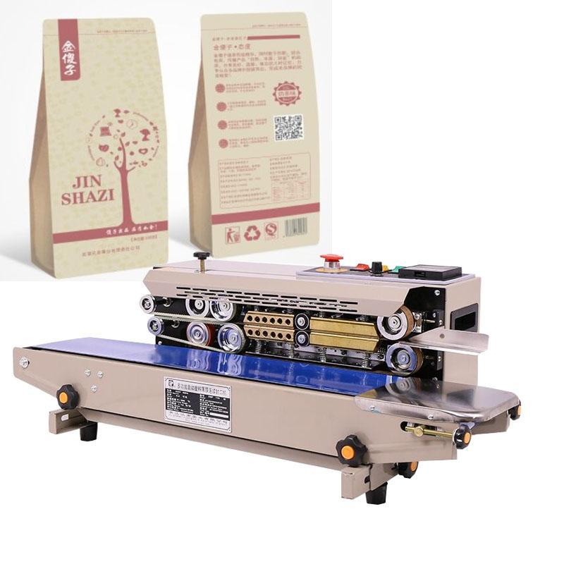 2020 automático de la película máquina de sellado continuo papel de aluminio de alimentos bolsa de plástico sellado de pastel de luna máquina de sellado