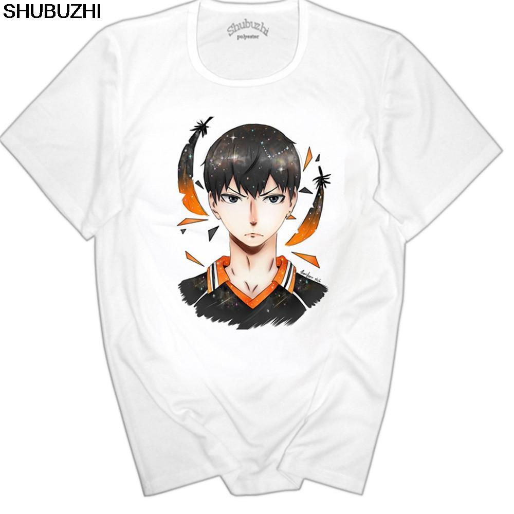 Japan Anime Haikyuu T-Shirt Weiß Short Sleeve Haikyuu Hinata Syouyou Top Tees Shirt für Erwachsene Euro Größe