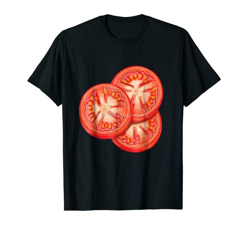 New Ich bin Tomate-Sandwich Zutaten schwarzes T-Shirt 4xl 5xl Euro-Größe Männlich Weiblich T-Shirt-Mann-Marken-T-Shirt Top-T-Shirts Sommer