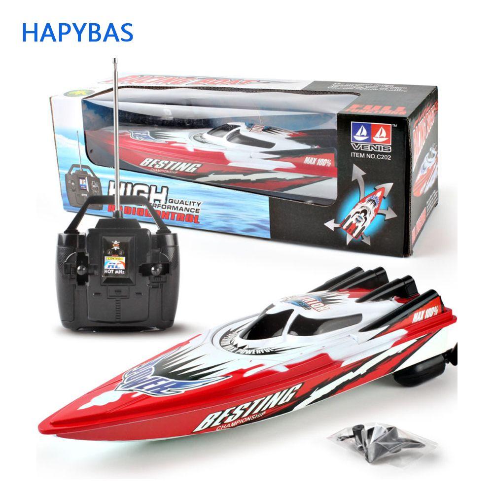 4 canali RC Barche di plastica elettrici giocattoli di telecomando di velocità della barca a motore gemellata Kid Chirdren elettrici