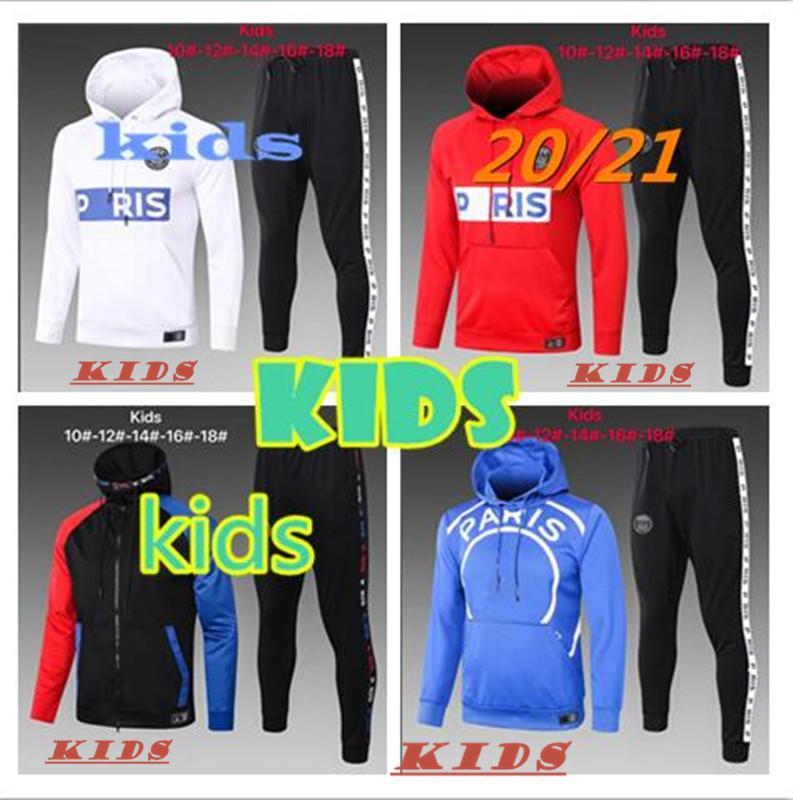 Paris KIDS kit jacket 2020/21 youth training suit 20/21 LUCAS ICARDI football jersey Hoodie for children