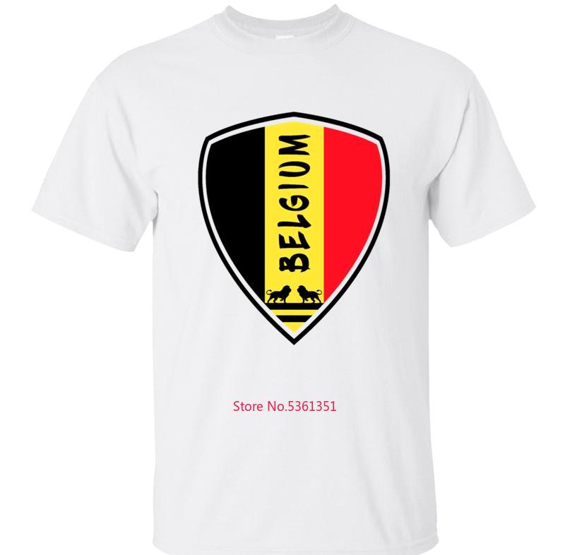 Komik Belçika Amblem Hediye Milli Renkler Erkekler Tişört Erkek T Shirt Tişört İçin Erkek Unisex Yaz Artı boyutu 3XL 4XL 5XL Hip Hop