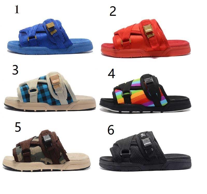 Estate Designer Women della tela uomini Infradito Pantofole Casual Scarpe unisex Visvim sandali della spiaggia di Hip Hop Via Sandali Taglia: 36-44 Q-580