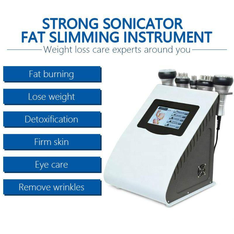 Tıbbi 5. sınıf 1 Kavitasyon Rf zayıflama makinesi Diyot Cilt Sıkma Vakum Rf Selülit Temizleme Yağ Azaltma Salon Kullanımı