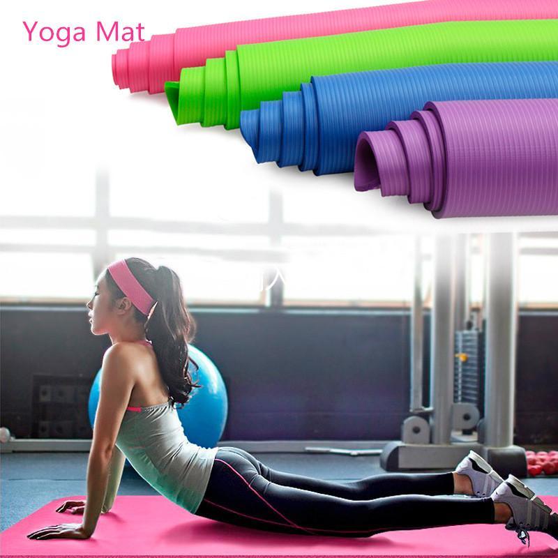 1830 * 610 * 10mm NBR Yoga Mat con la posizione della linea di slittamento non Carpet Mat per principianti ambientale fitness Ginnastica Mats FY6019SBB