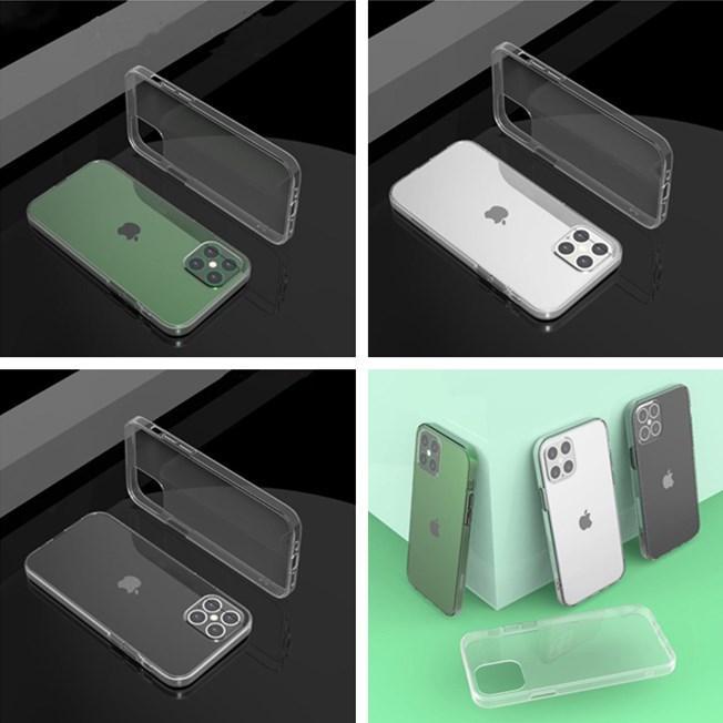 Прозрачный акриловый ТПУ PC Phone чехол для iPhone 2020 12 серия Мягкая защитная крышка Free DHL