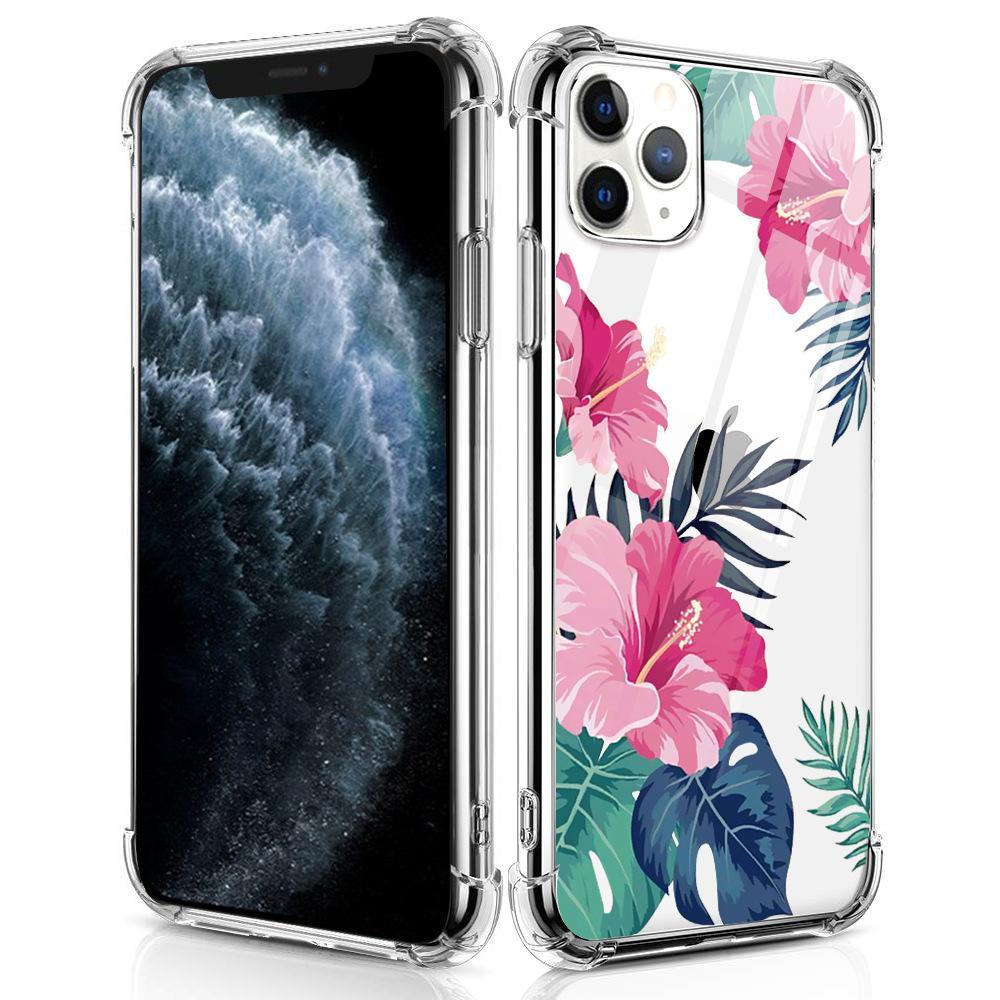 2020 Завод цветочный телефон случае Четыре угла подушки безопасности чехол для iPhone 11 Pro MAX XS XR 8 7 6 Plus Protect Cover противоударный
