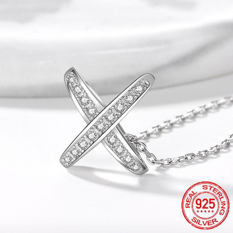 Authentic 925 Sterling Silver Pendant Necklace For Women Silver 925 Charm Fine jewelry Gift With Box D092