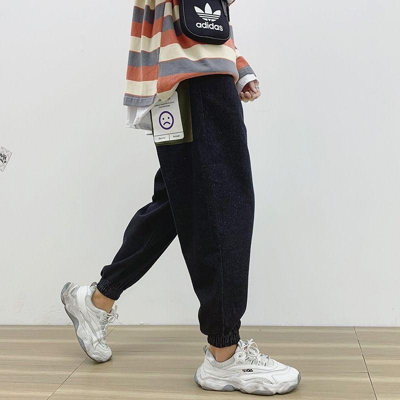 3rKeZ мужских свободные 2020 летних размер девяти точек гарема случайных брюк джинсы и джинсы мужских модной марки широких ноги привязали-ноги случайных штаны