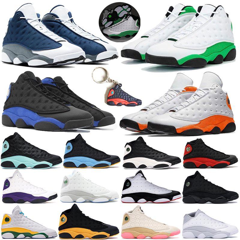 13s Hommes Chaussures de Basketball Olive Chicago Hyper Royal Chat Noir Flints Bred Flint Gris Toe Barons Blé DMP hommes baskets de sport 8-13