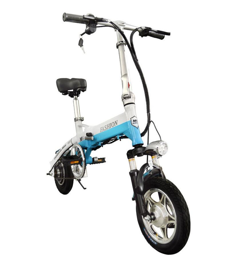 New Electric Bike 36V Two Wheels Electric Bicycle Front/Rear Brake System White/Blue/Black Adult Folding Electric Scooter
