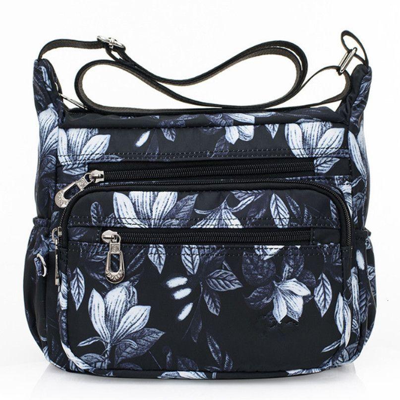 2020 bolsos del diseñador de las mujeres flor de mariposa Impreso cremallera de hombro bolsas de nylon Crossbody Bolsa Bolso Sac principal Hembra