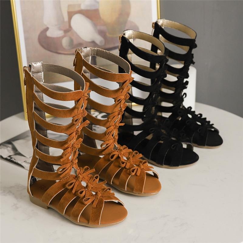 Filles Sandales doux Bottom Little Princess Chaussures d'été Chaussures New Haut Roman enfants Bébé Princesse Peep-toe Chaussures de plage