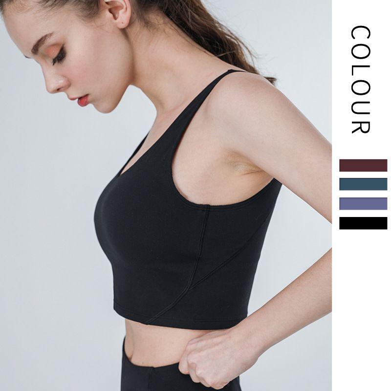 Profundo decote em V América desportos costas bra roupas íntimas femininas colete correndo yoga aptidão ioga roupas casaco feminino 10069-3