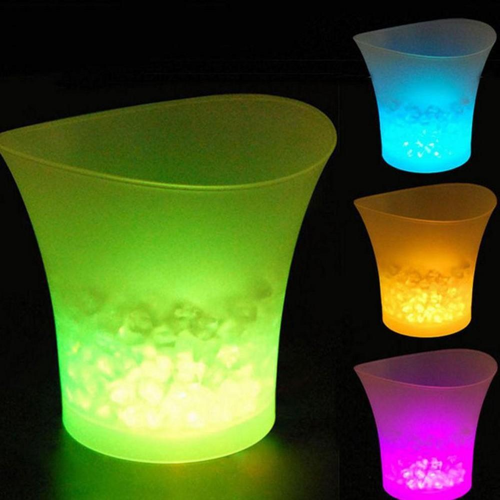 Wasserdicht 5L glühender LED Eiseimer 7 Farbe LED-Leisten Ice Kühler Nachtclubs leuchten Champagne Wein Bier Eimer Bars