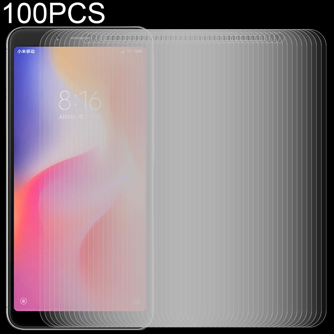 100 PCS 0.26mm 9H 2.5D Ausgeglichenes Glas-Film für Xiaomi Redmi 6