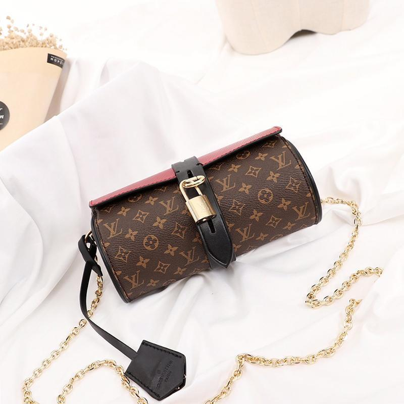 Bag Drop Ship borsa donne di modo signore di Crossbody Leather Chain Shoulder Bag piccolo lembo di Crossbody di lusso di marca borse delle donne di spalla
