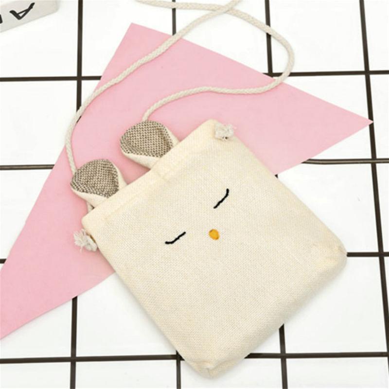 Bella Women della tela mini spalla signore di sacchetto Piccolo Crossbody Borse casual borsa per femmina giovane Phone Portamonete
