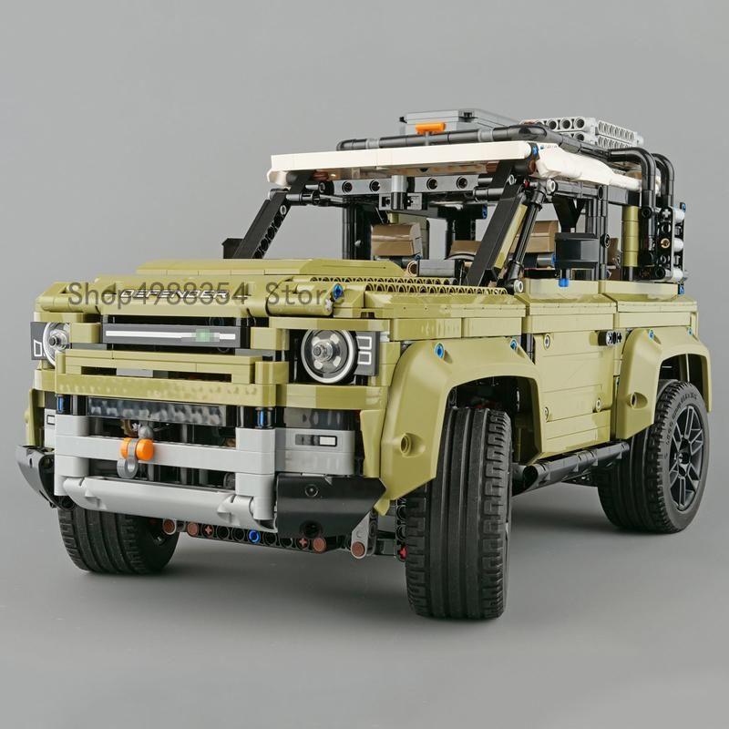 جديد Lepinblocks 93018 legoinglys تكنيك المدعم 42110 لاند روفر سيارة الجمعية المدافع بناء كتل الطوب لعب عيد الميلاد 2020