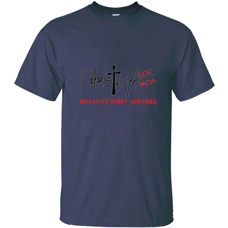 Nueva Moda Cristo Vida Soc Mob Royalty primera ropa Sbp Con la camiseta para hombre de la camiseta del hombre camiseta para hombres ropa fresca Homme Hip Hop