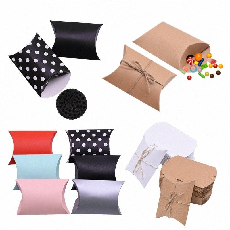 10/20/30 / Крафт бумага коробки конфет Симпатичные мини Подушка Картонная коробка подарка на день рождения Свадебные подарки пользу Упаковка Party Decor Bb0Q #