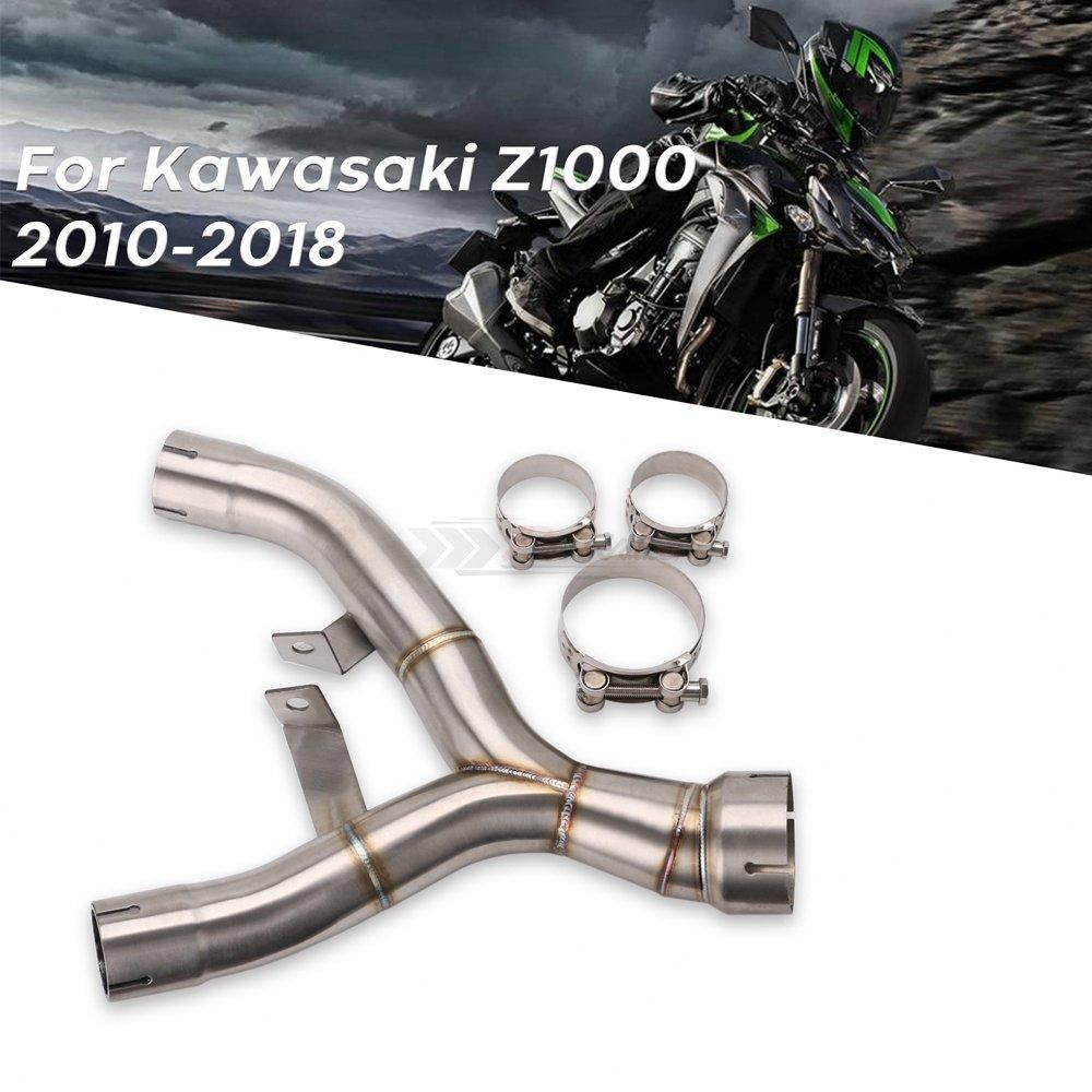 Decatalizador No-Kat Mid Pipe INOX DE-Cat DECAT Dominator Exhaust 2011 2012 2013 2014 2015 2016 2017 2018 Z1000 Z 1000 Tubo de eliminaci/ón de catalizador