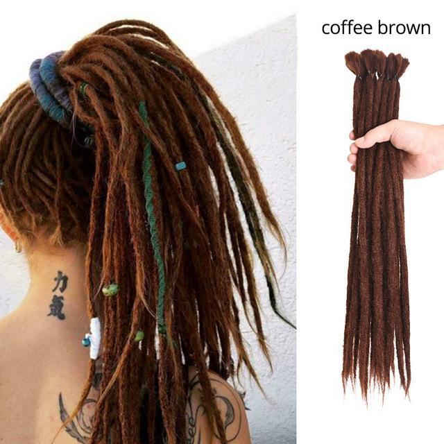 Nicole 20 pollici Handmade Dreadlocks Capelli Estensioni Capelli Moda Reggae Crochet Hip-Hop Treads Synthetic Treads Omber Color Crochet Hair Spedizione gratuita