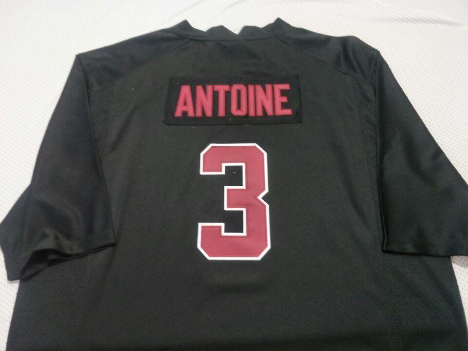 Homens Stanford Cardinal Malik Antoine # 3 Real bordado cheio Colégio Jersey Tamanho S-4XL ou personalizado qualquer nome ou número de camisa
