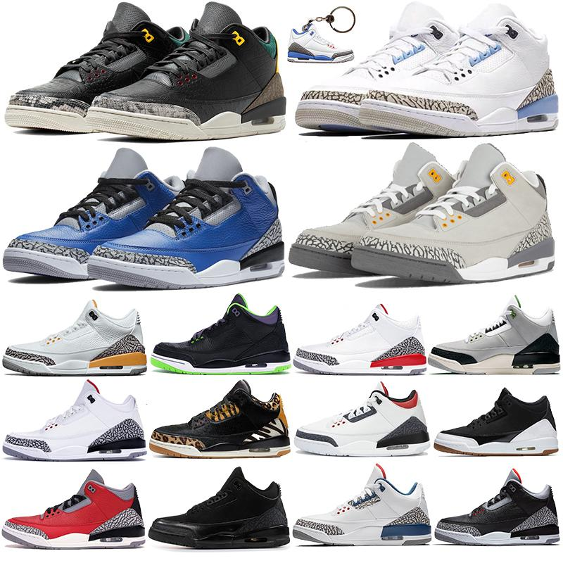 2020 varsity royal cement Jumpman III men Basketball Shoes animal instinct UNC fire red denim Athletic sports Trainers mens Sneakers