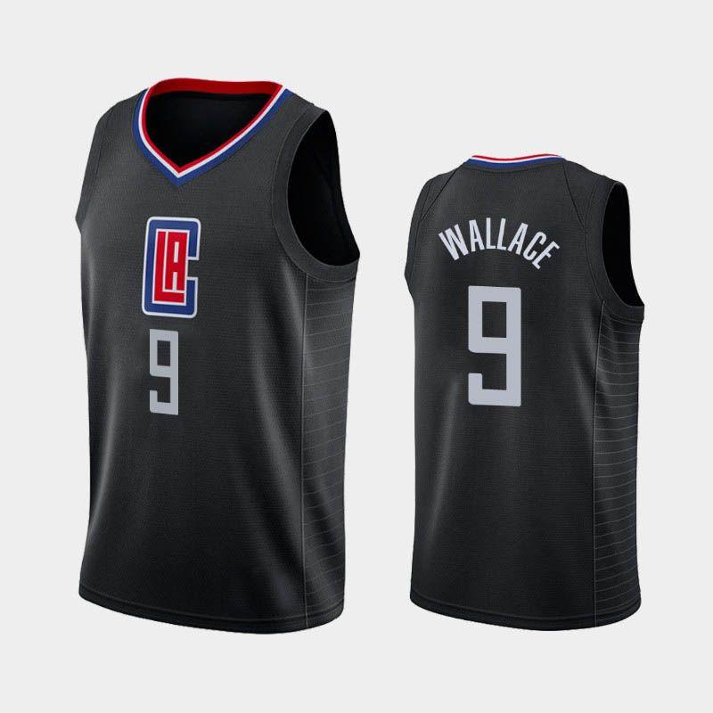 Нового мужского Тайрон Wallace баскетбольного 2019-20 Заявления Город Icon Джерси