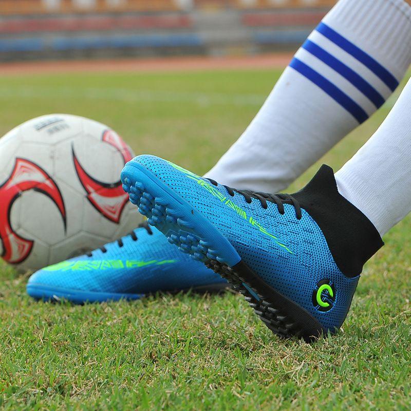 2020 nuovi pattini esterno degli uomini di calcio dei ragazzi Scarpe da calcio alla caviglia alta bambini Bitte Formazione Sport Sneakers Taglia 35-45 Dropshipping