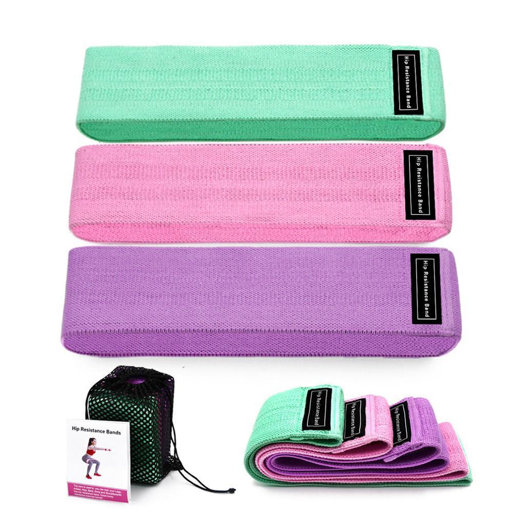 Resistenza di forma fisica Fasce 3-Piece Set Bands Elastici Expander Fascia elastica Per Fitness Elastic Resistenza Esercizio attrezzature da palestra DHL liberi