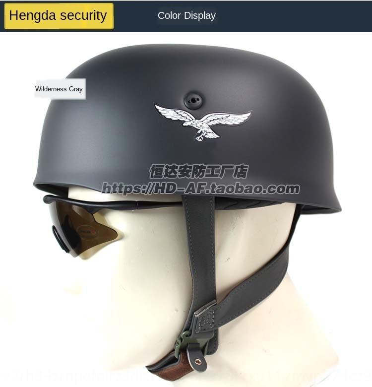 Guerra Mundial Prop II clássico exército alemão M38 guarda-chuva de pouso filme capacete adereços coleção capacete multicolor