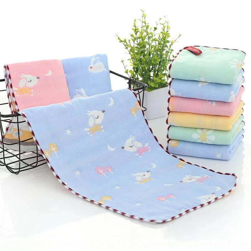 Puro algodón jacquard de algodón para niños pequeños jacquard seis capas de toallas bebé toalla de cara de la colada de los niños de gasa