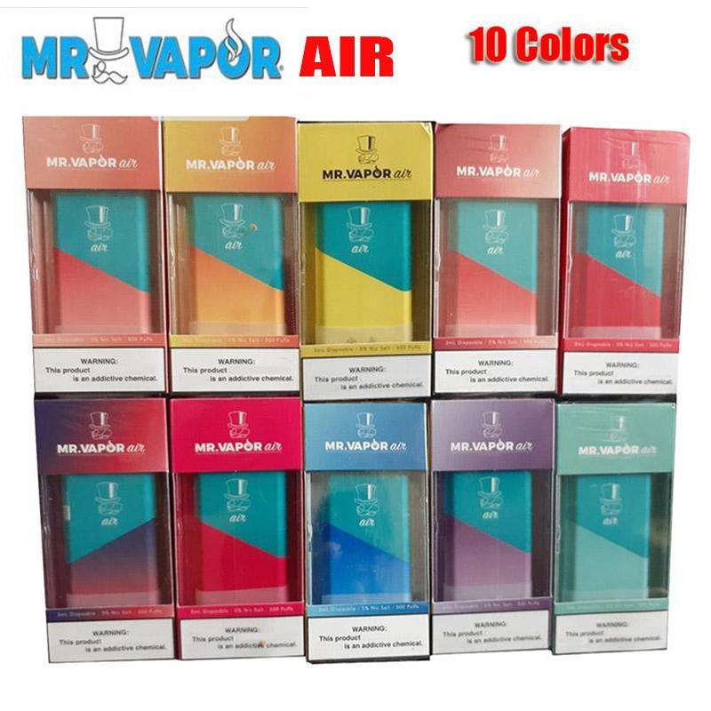 MR VAPOR AIR Одноразовые устройства Pod Starter Kit 350mAh Аккумулятор 3мл картридж Бобы 500 Puff Vape Pen VS Xtra Flow Plus BIDI Stick Pro наборы