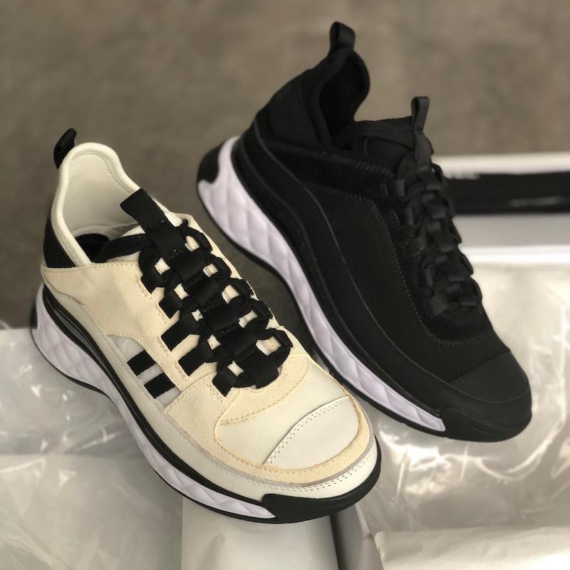 scarpe Classic White Sport donne scarpe da ginnastica di moda scarpe piattaforma nuova delle donne Vitello dei pattini casuali formato 35-40
