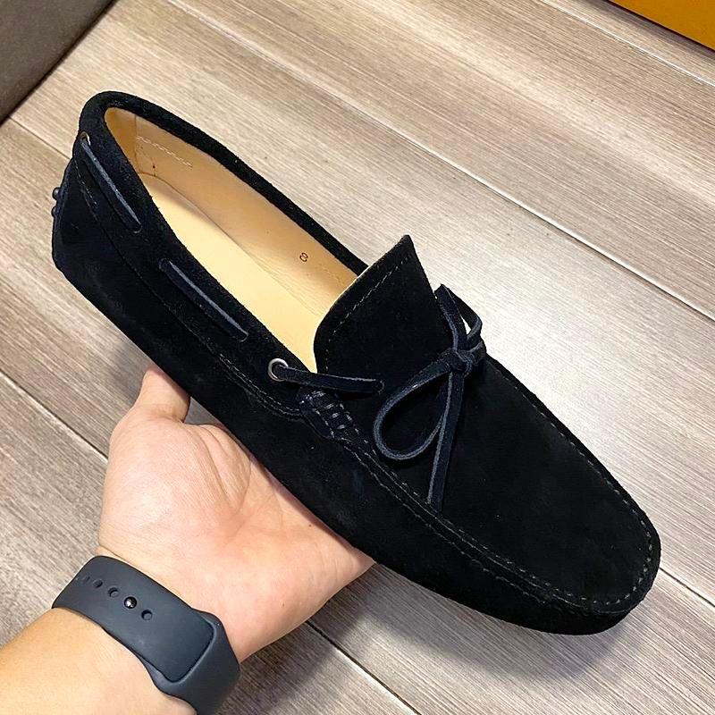 Nueva alta calidad para hombre zapatos casuales de cuero del bowknot, antideslizantes mocasines planos resistente al desgaste, zapatos pedal de marcha, mocasines elegantes con origina QAE