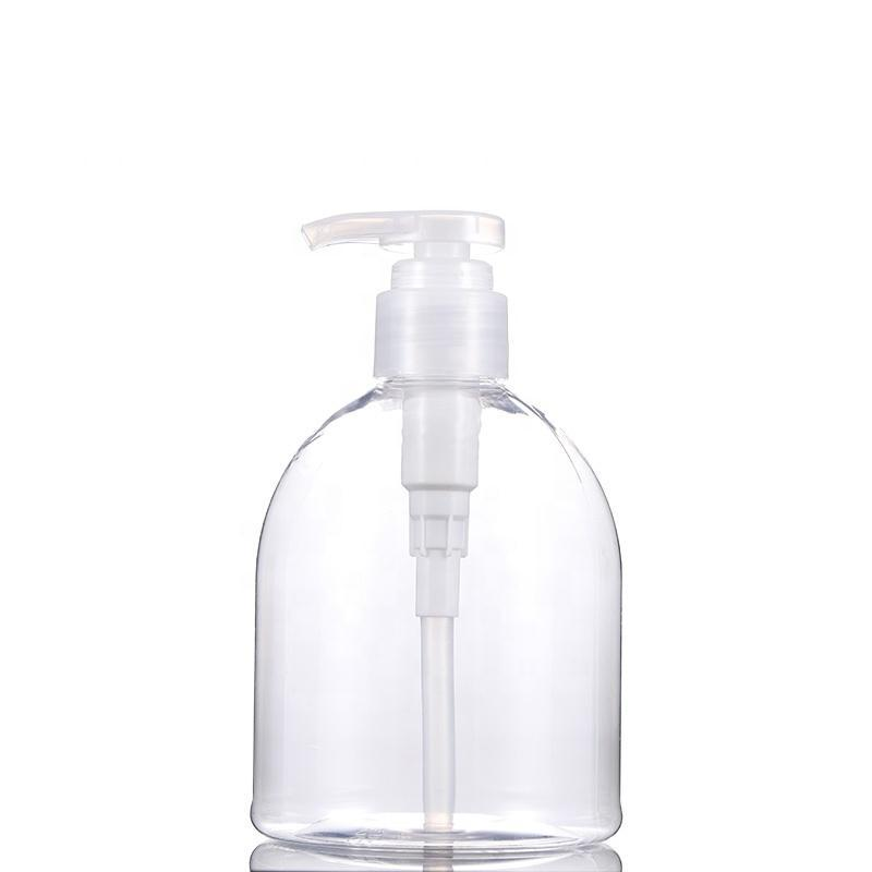 Горячая продажа 300мл 500мл ПЭТ прозрачный пластиковый Слейте шампунь гель для душа дезинфицирующее средство для рук бутылки насос высокого давления 2000pcs / серия DHB780