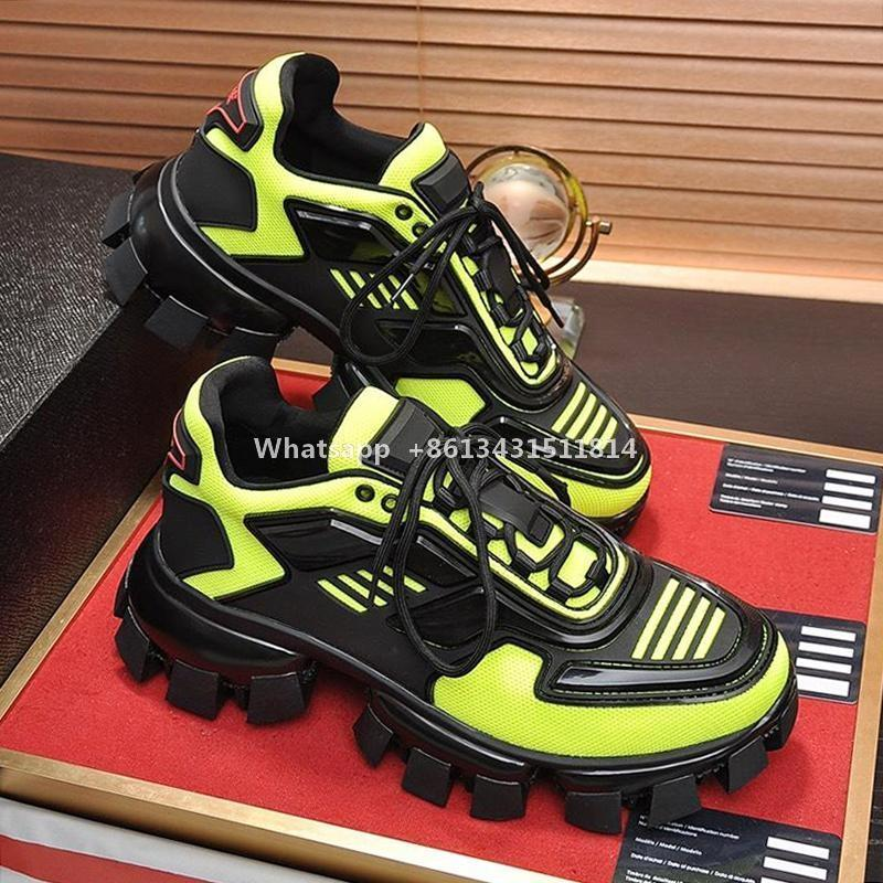 Luxo calçados casuais para homens Platform Comfort Trendy Footwears Lace Up Top Quality Trainers Cloudbust Trovão Knit Sneakers S336 Shoes