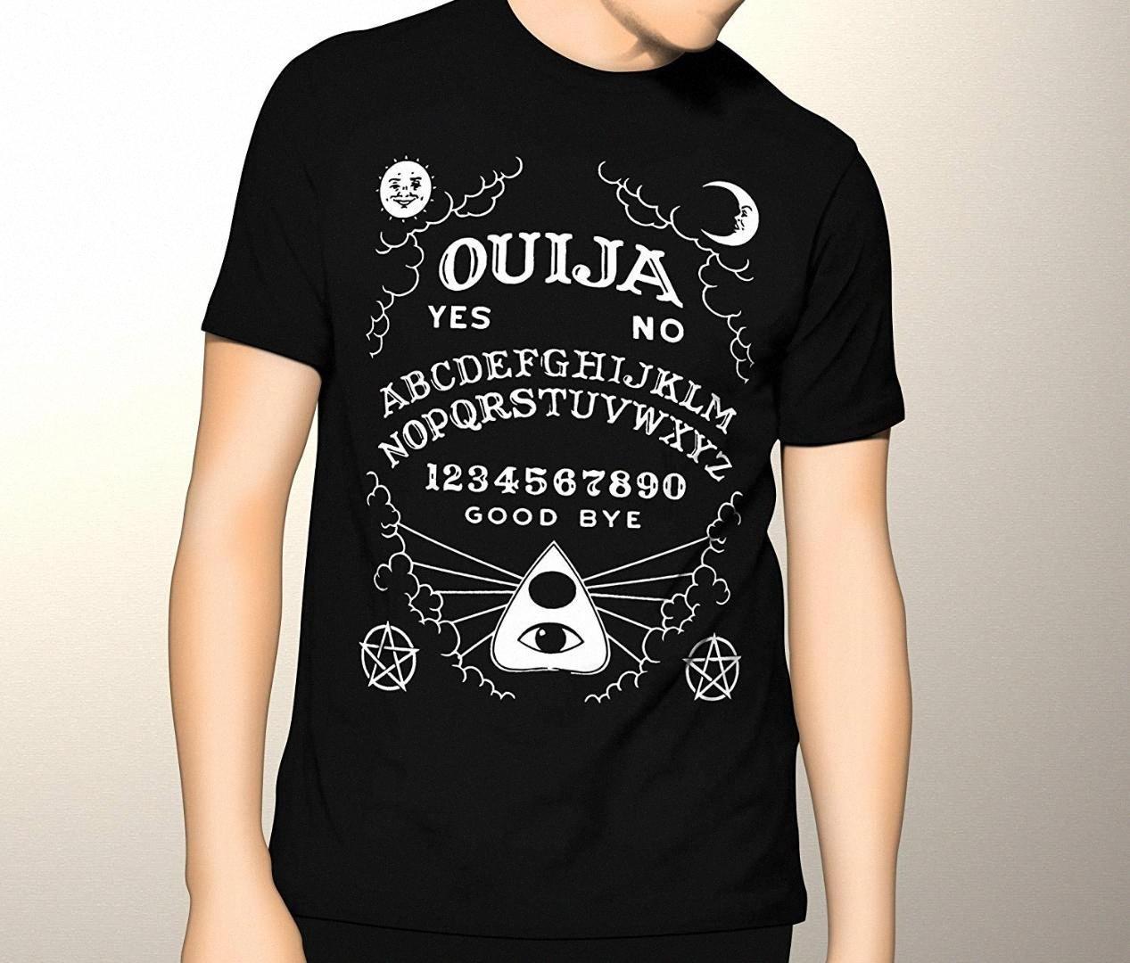 Oculto, Ouija, gráfico T camisa de la manera camisetas de algodón camisetas frescas divertido T Shirts Gráfico SGwM #