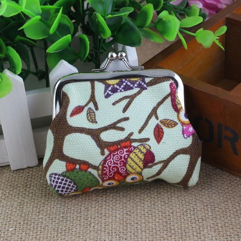 hibou coréenne mignonne petite toile pour toile femmes bourse de portefeuille cadeau sac monnaie petit sac de monnaie porte-monnaie