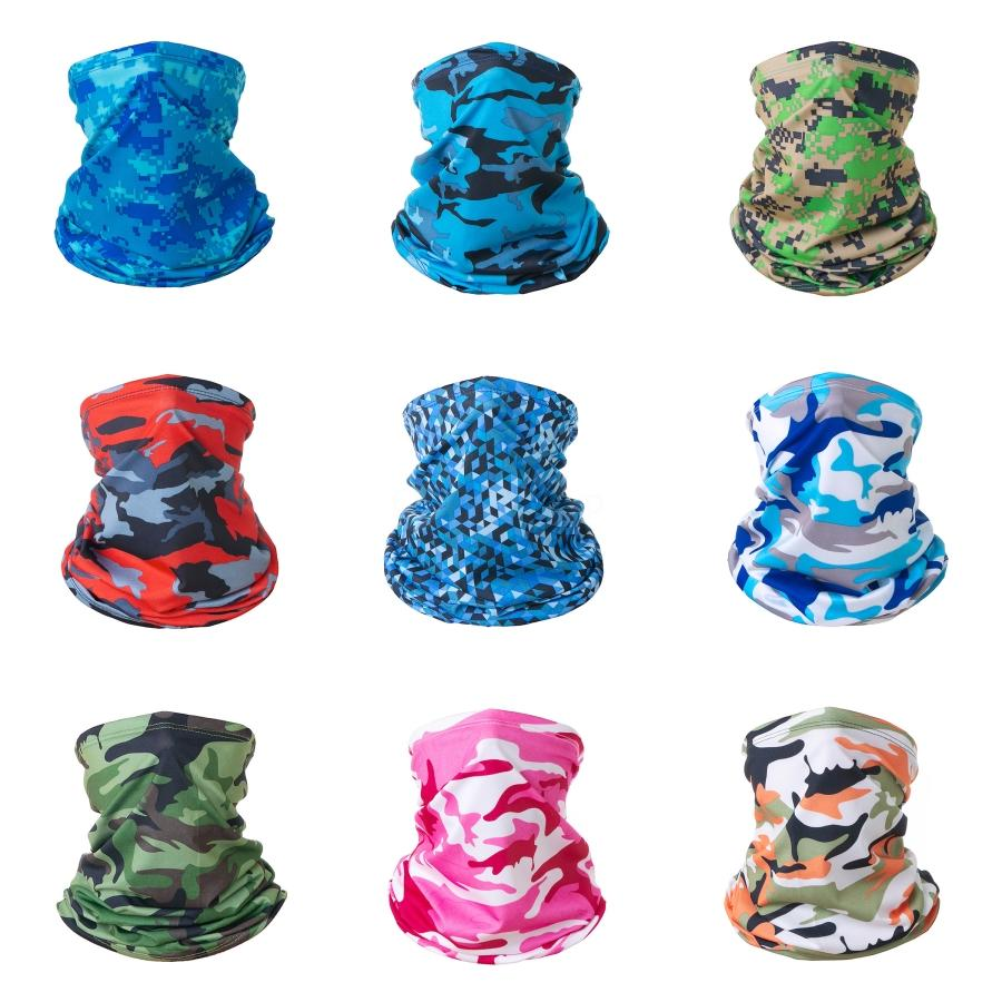 Magic Turban Outdoor Riding Sunscreen UV Protection Cold Ice Silk Turban Solid Color Camouflage Skull Scarf Suitable For Everybody#305#197