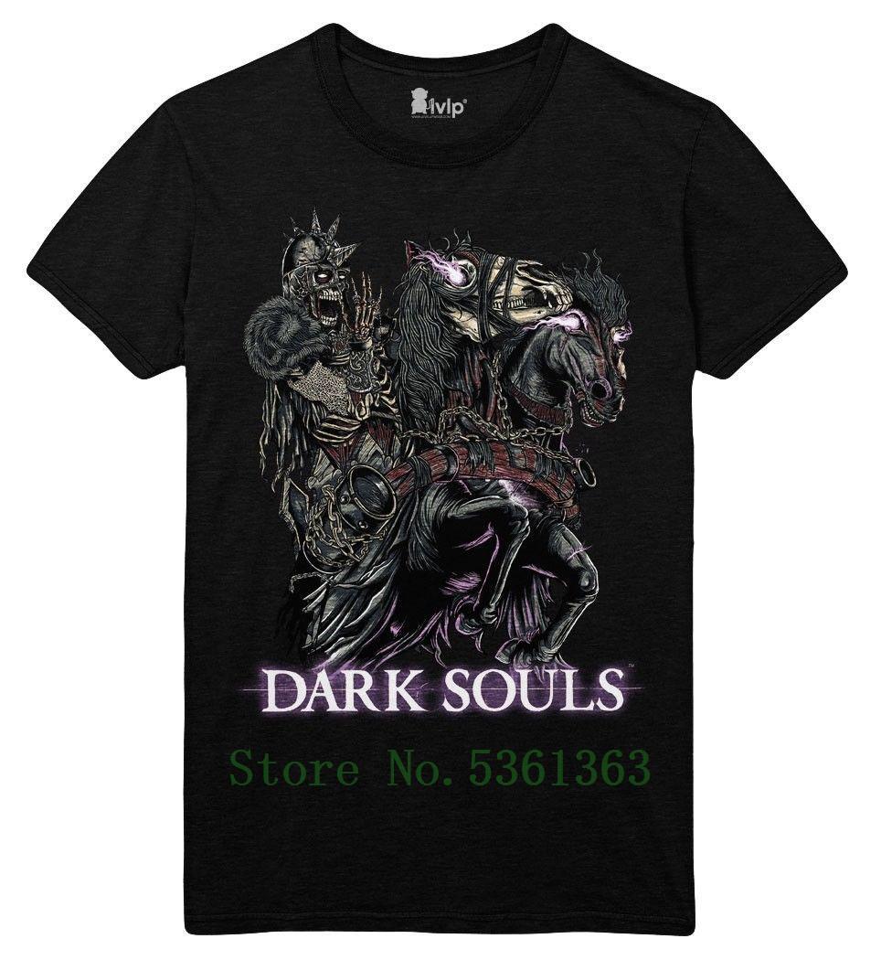 Dark Souls 3 - Zombie-Ritter-Männer Large T-Shirt - Schwarz Art und Weise kühler Stolz T-Shirt Männer beiläufige neue Unisex T-Shirts freies Verschiffen
