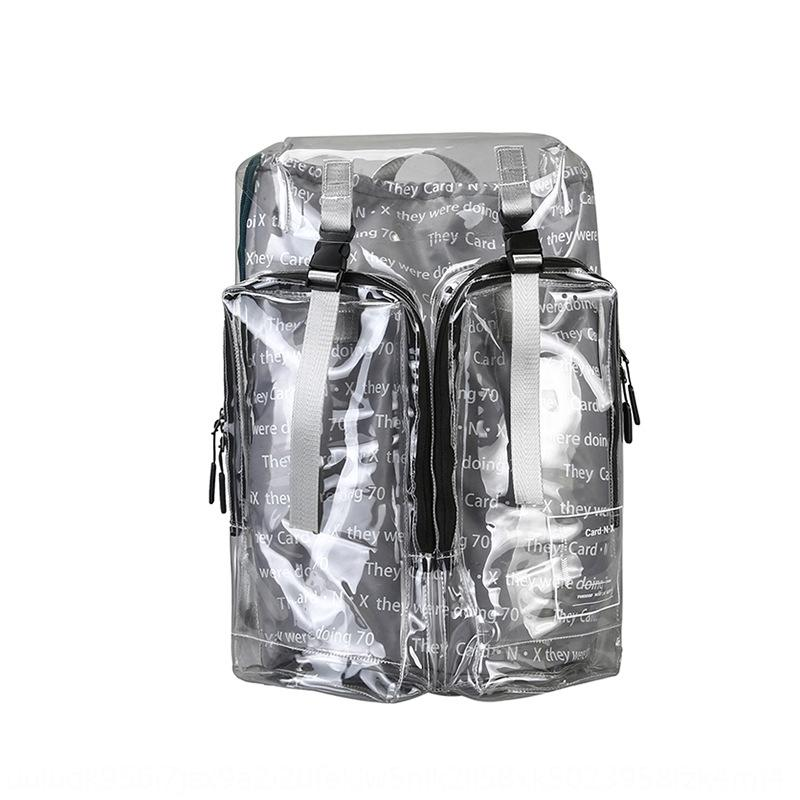SyDe0 Personalized trendy reflective three-dimensional PVC transparent stylish and wo hip-hop fashion Personalized trendy reflective three-d