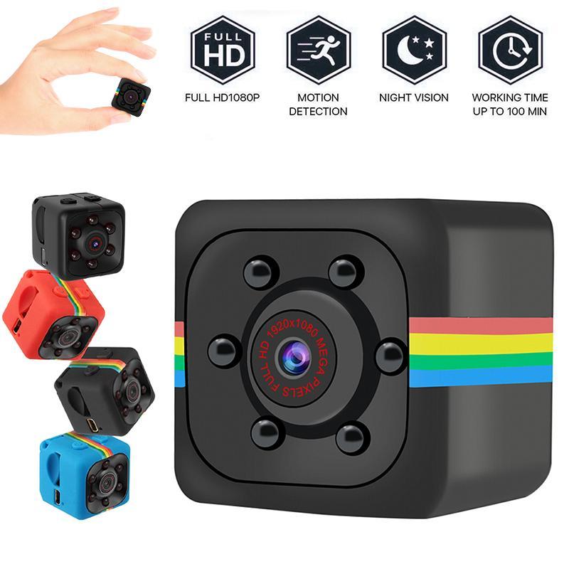 20 adet --- SQ11 Full HD 1080 P Mini Kameralar Gece Görüş Kamera Taşınabilir Mikro Spor Video Kaydedici Kam DV Kamera (TF Kart Dahil Değil)