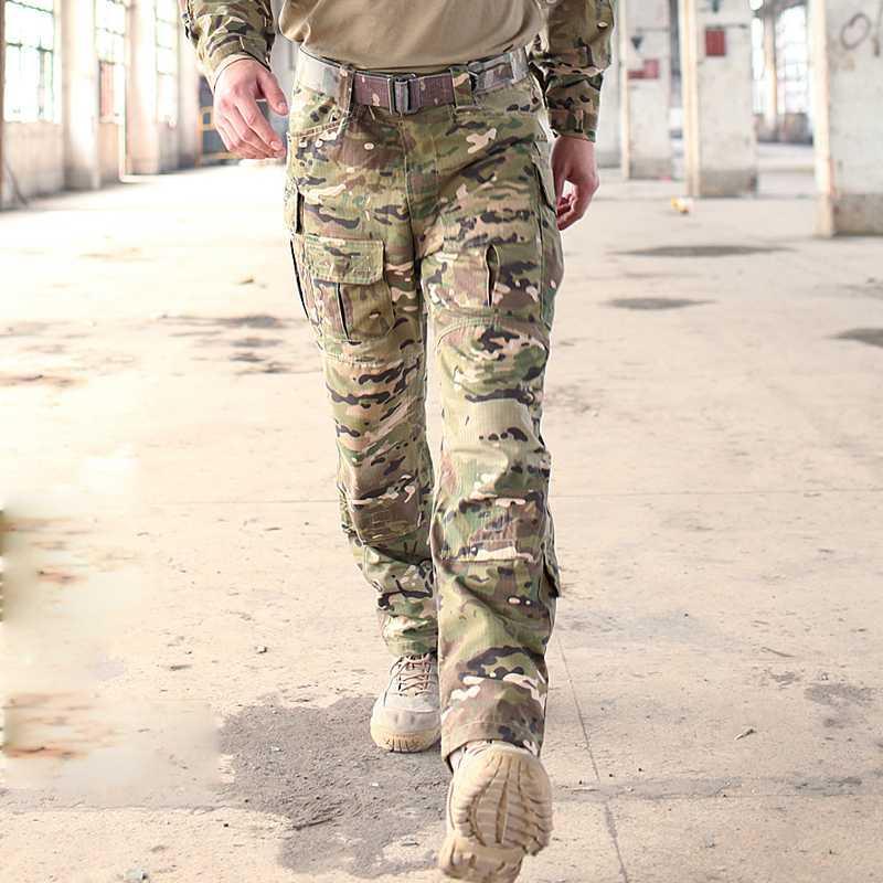 Trueguard Multicam TRU 1/4 Zip Pantaloni da combattimento multicam Arid 65/35 Poli cotone Ripstop combattimento Pantaloni MCA Frog Suit