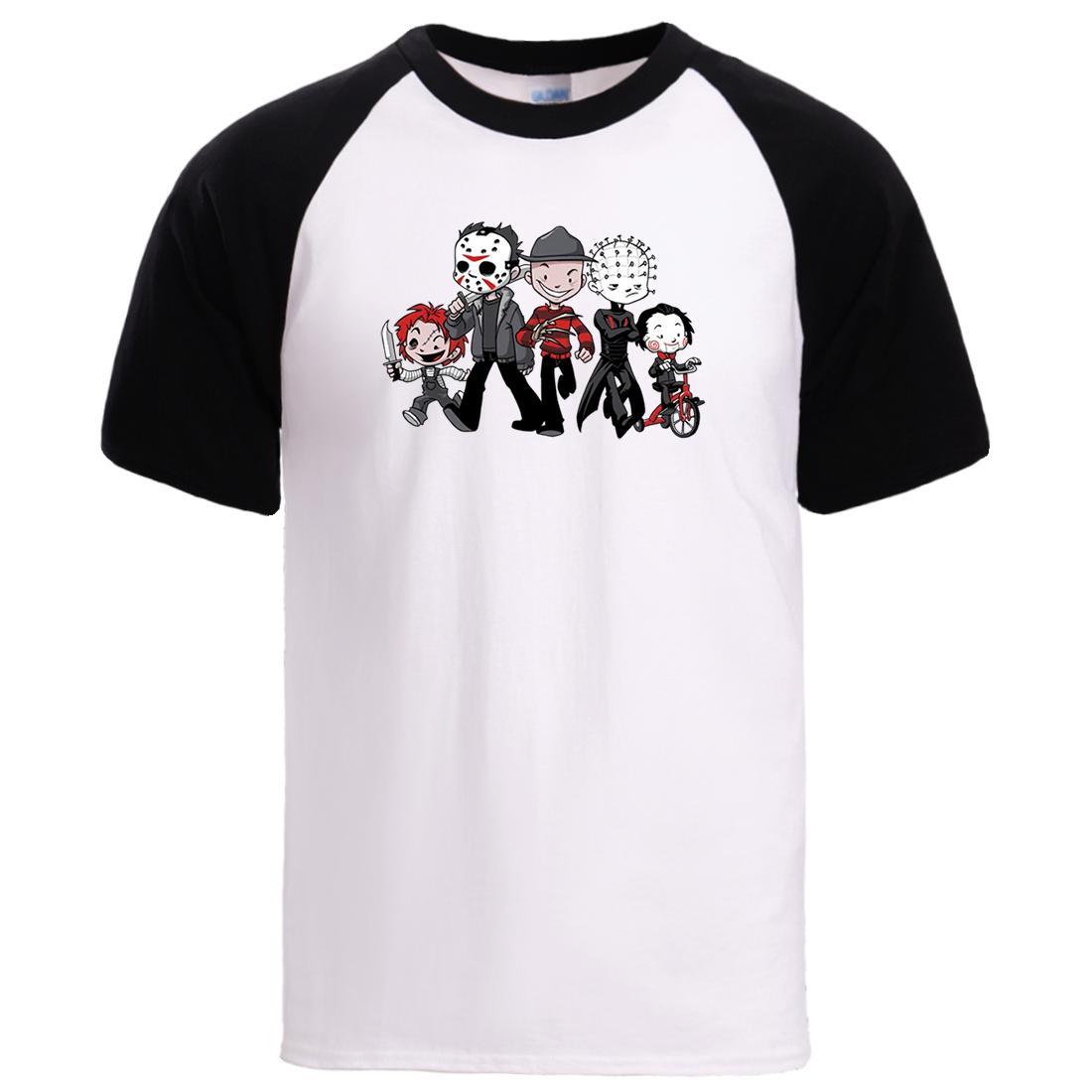 Horror Movie Jason Clown magliette estate del Mens manica corta Top Tshirt 2020 Hot film divertente fumetto della stampa di cotone magliette maschile Tee